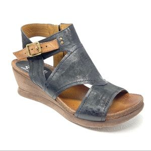 MIZ MOOZ Scout Sandals 39 8.5-9 black Wedge heels